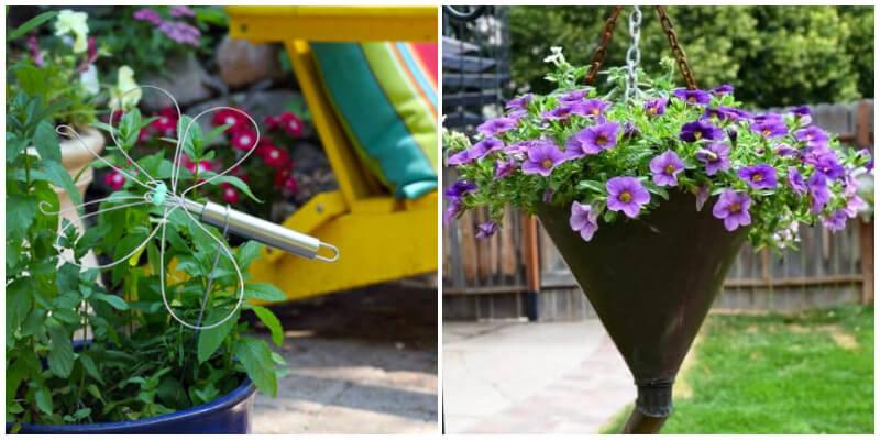 23 Amazing DIY Kitchen Utensil Hacks For Your Garden