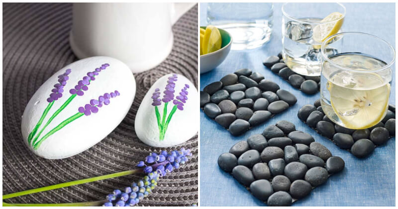 DIY Pebbles and River Rock Projects For Your Home Decor Planning