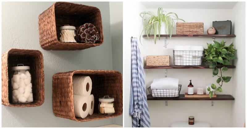 Creative and Cool DIY Bathroom Shelf Ideas