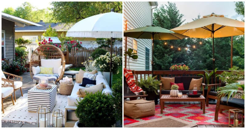23 Appealing Umbrella Ideas For Your Backyard