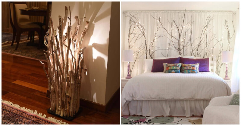 28 Creative Branches Ideas To Help Your Home Closer To Nature