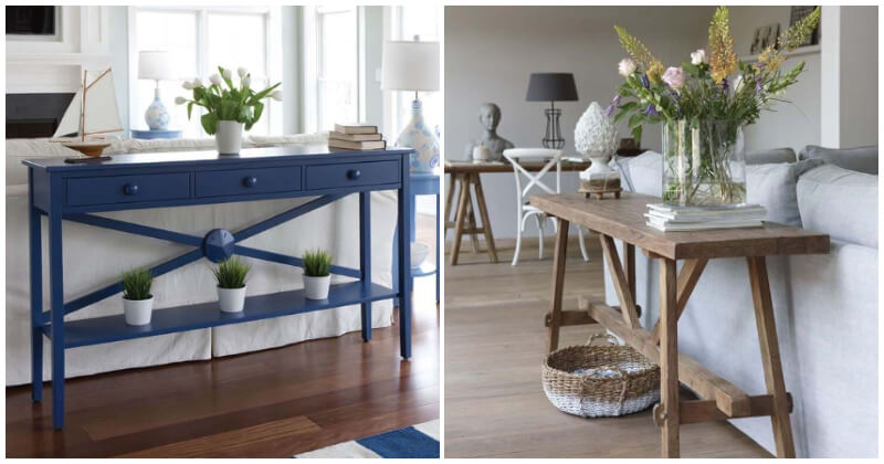 Impressive Sofa Table Ideas To Add Style To Your Home