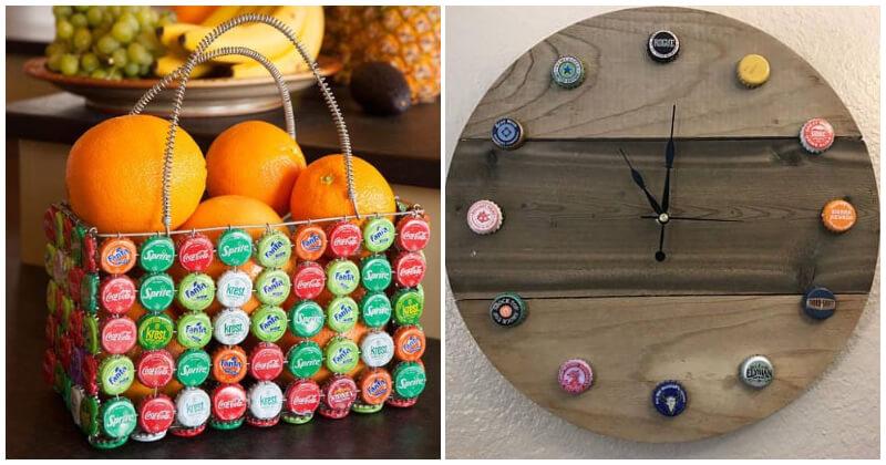 21 Unique Ideas To Reuse Bottle Caps For Beautiful Home Decorating