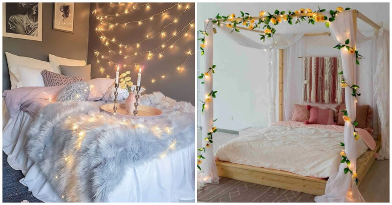 20 String Light Ideas For Your Bedroom