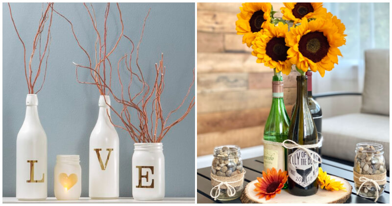 Awesome DIY Bottle Projects To Decorate Your Home