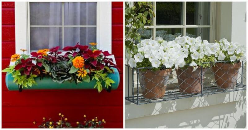 15 Creative DIY Window Box Planters