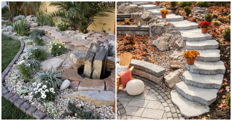 21 Marvelous Landscapes With Stone Ideas