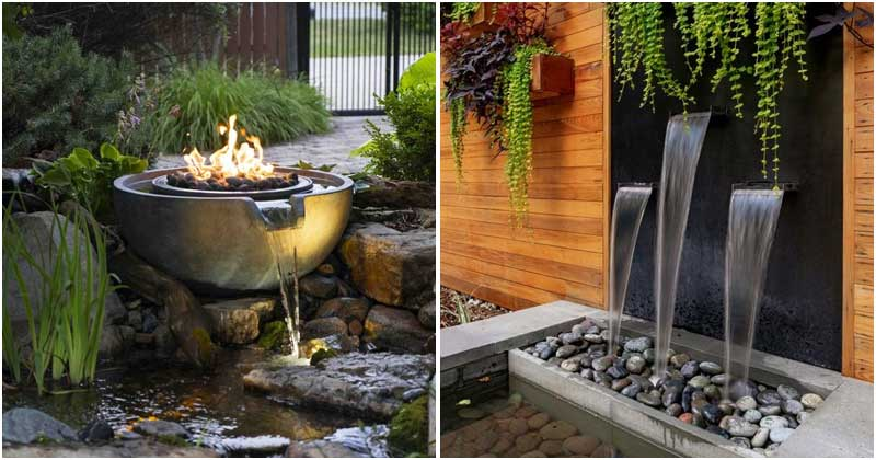 25 Striking Water Feature Ideas On The Front Yard
