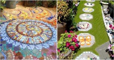 Charming Mosaic Garden Path Ideas