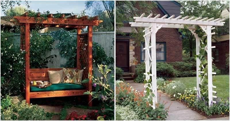 Striking Inexpensive Garden Arbor Ideas