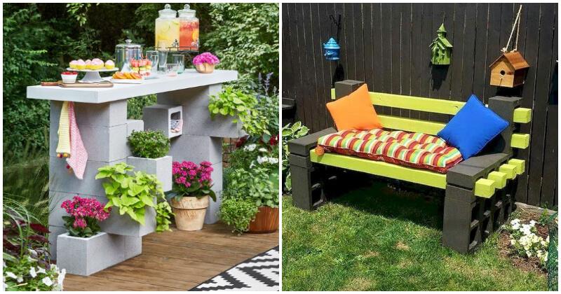 20 Creative DIY Cinder Block Garden Projects