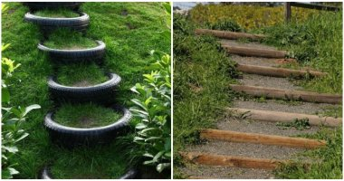 Easy And Cheap Garden Stair Ideas