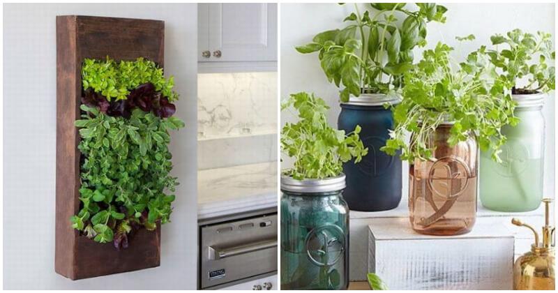 15 Lovely and Creative DIY Indoor Herb Garden Ideas