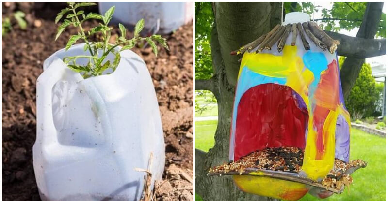 Clever DIY Milk Jug Projects To Use In Your Garden