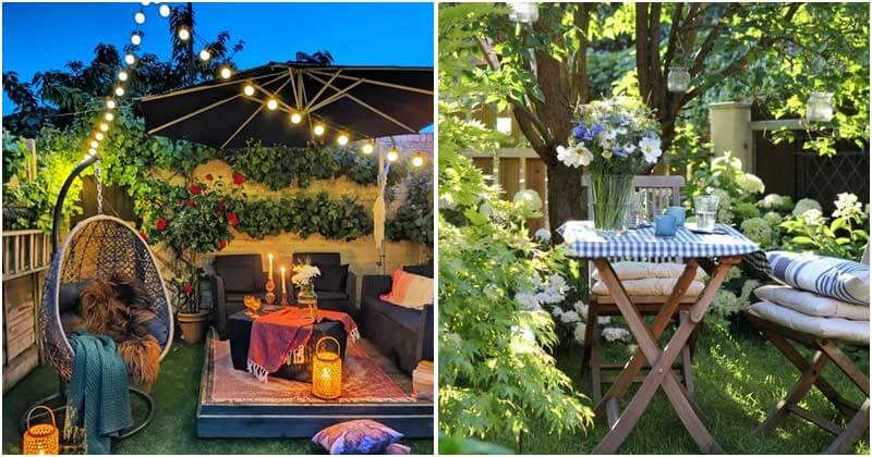19 Cozy and Romantic Backyard Seating Ideas for Your Date