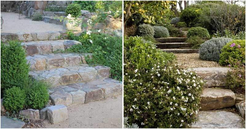 16 Appealing Courtyards With Stone Stair Ideas