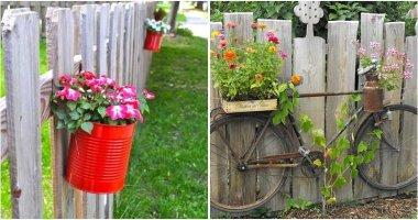 19 Easy-to-make DIY Fence Planter Ideas