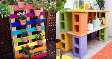 20 Lovely and Cool Rainbow Garden Ideas