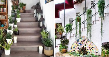 18 Inspiring Green Indoor Gardens On The Staircase
