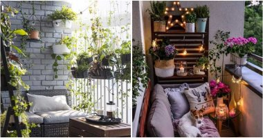 20 Beautiful Balcony Garden Ideas With String Lights